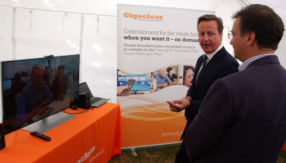 David Cameron and Matthew Hare (Gigaclear) speak to Malcom Corbett (INCA), Dana Pressman Tobak (Hyperoptic) via Skype